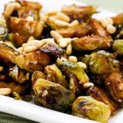 roasted brussels sprouts with pinenuts